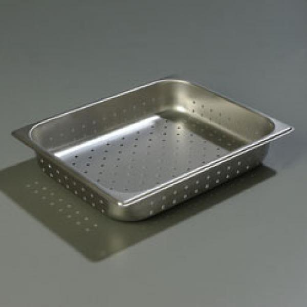 DuraPan(TM) Steam Table Pan, 1/2-size, perforated