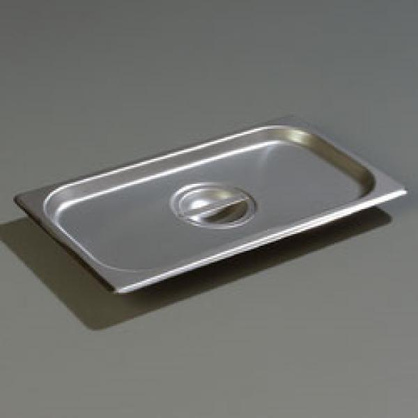 DuraPan™ Steam Table Pan Cover, 1/3-size, solid, flat, lift-off, recessed handle