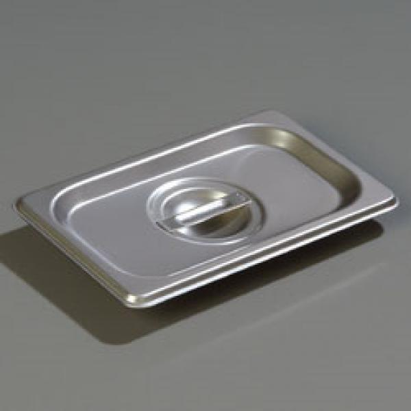 DuraPan™ Steam Table Pan Cover, 1/9-size, solid, flat, lift-off, recessed handle