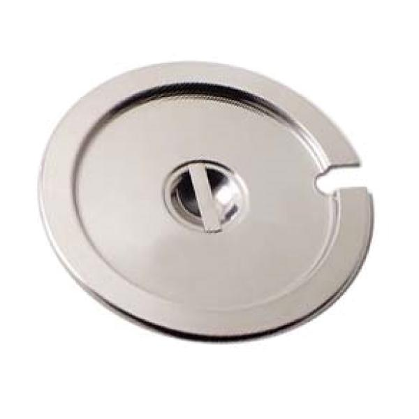 Inset Cover, fits 11 qt inset (model 607711), lift-off, notched with handle, smooth rounded edges