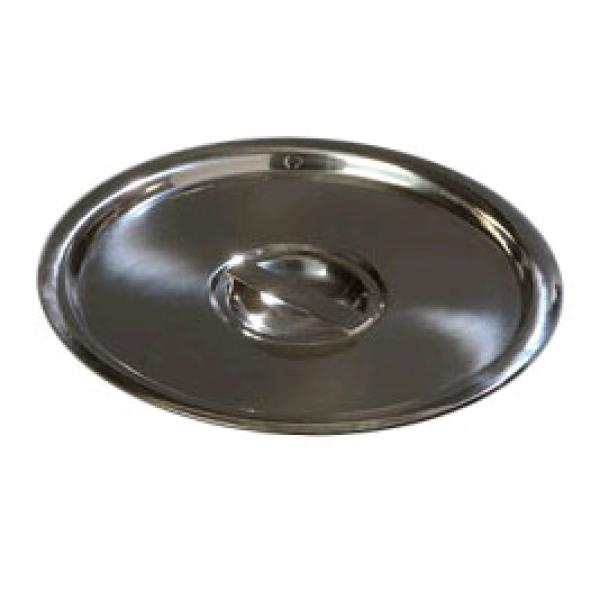 "Bain Marie Pot Cover, 8"" dia., recessed handle"