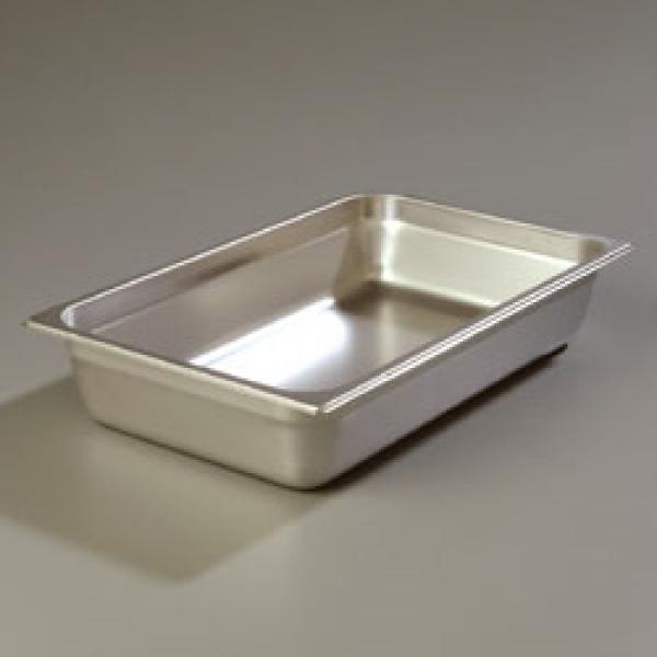 "DuraPan™ Steam Table Pan, full-size,  4"" deep, reinforced corners, stackable, anti-jam"