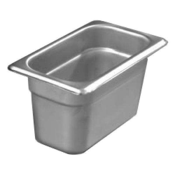 "DuraPan™ Steam Table Pan, 1/9-size,  4"" deep, reinforced corners, stackable, anti-jam"