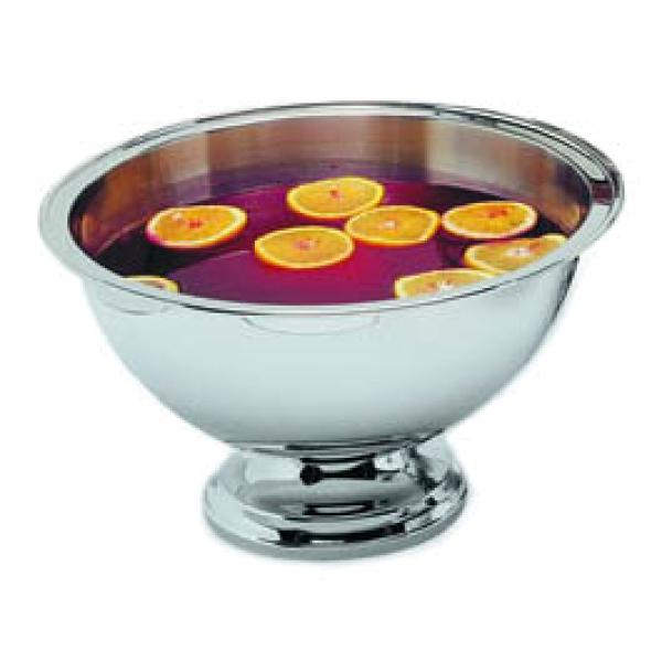 "Punch/Serving Bowl, 16 quart, 18"" dia., narrow rim, mirror-polished finish exterior and rim"