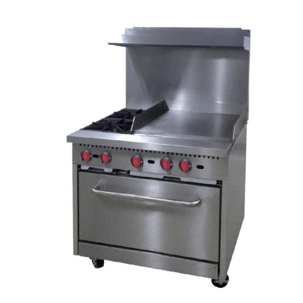 Centaur Commercial Range with Griddle, propane gas, 36