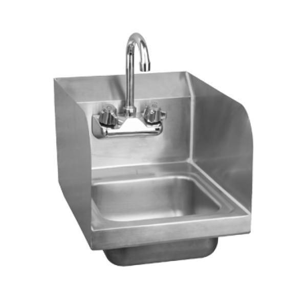 Wall Mounted Hand Sink W Side Splashes 12 Quot W X 10 Quot D X 6