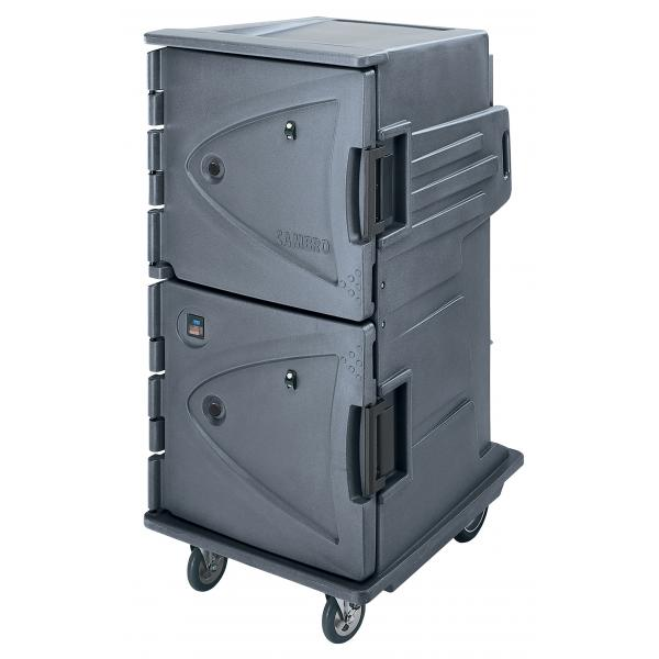 Cambro CMBH1826TSC191 Camtherm Hot Cart, Granite Gray