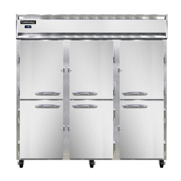 Freezer, reach-in, three-section