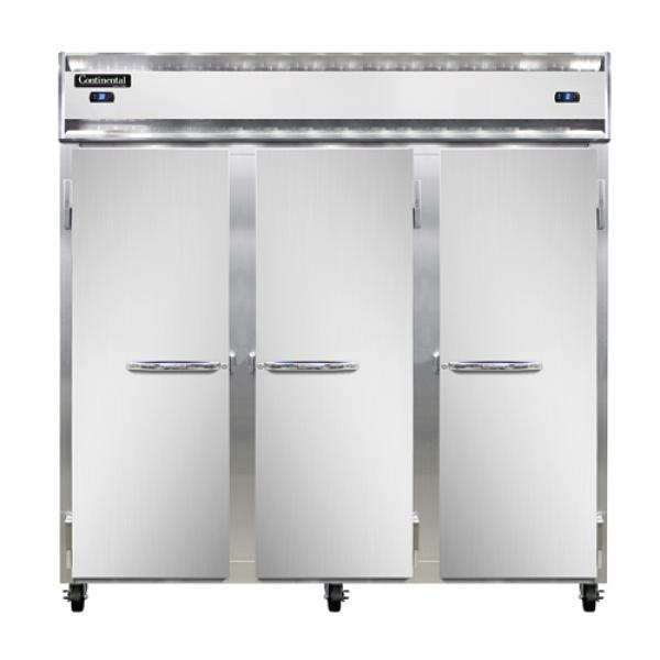 Refrigerator/Freezer, reach-in, three-section