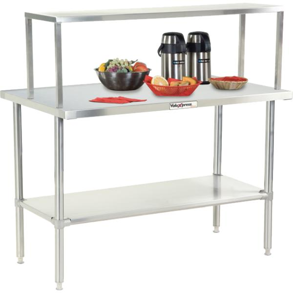 ValuXpressR Solid Top Counter L Gauge Stainless Steel Top - 16 gauge stainless steel table