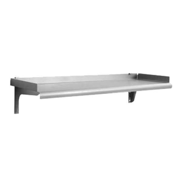 Wall shelf snap n slide r 1 1 2 rolled front edge - Snap up shelf ...