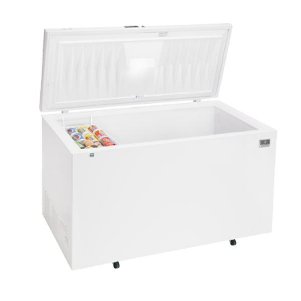 chest freezer 22 cubic feet capacity sealed cabinet interior white exterior lift