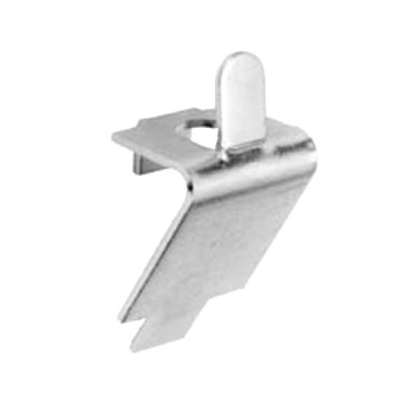 Pilaster Clip Square Slotted Shelf Support Zinc Plated