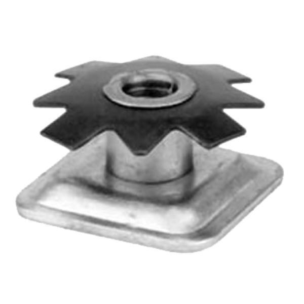Threaded Insert For Square Tubing For Use With Levelers