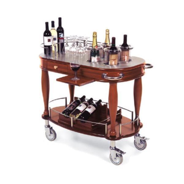 wine cart bordeaux 21 5 8 d x 39 3 8 w x 36 3 4 h stainless work surface restaurant equipment. Black Bedroom Furniture Sets. Home Design Ideas