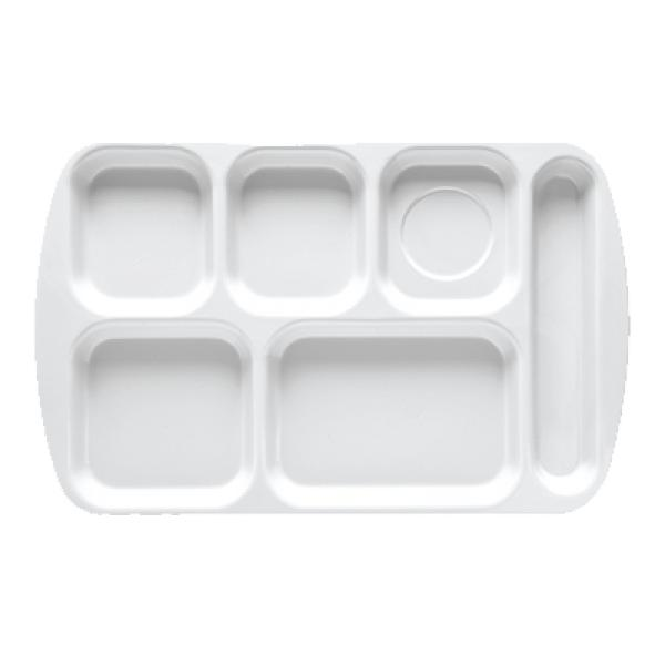 "School & Cafeteria Tray, 15-1/2"" x 10"", 6 compartments"