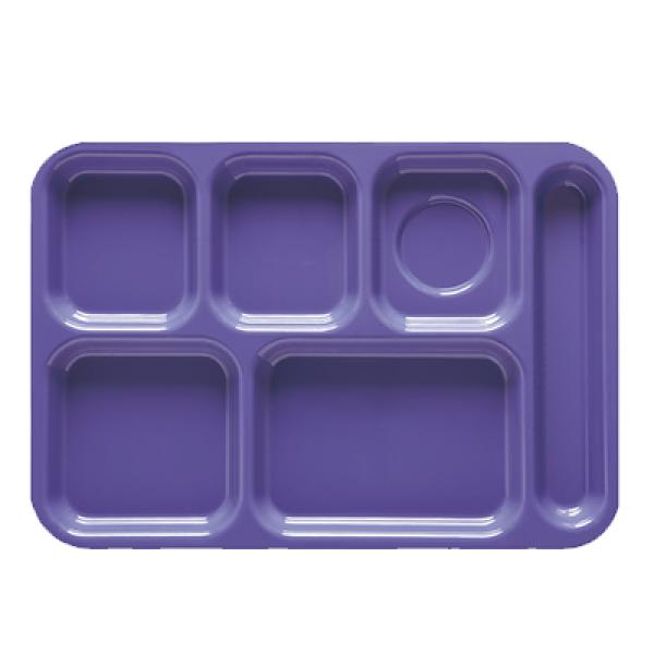 "School & Cafeteria Tray, 14-1/2"" x 10"", 6 compartments"