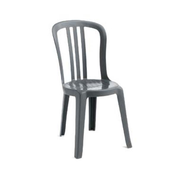 Grosfillex US495002 Miami Bistro Stacking Side Chair