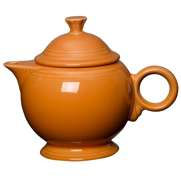 Homer Laughlin  Fiesta 44 oz. Teapot w/ Cover - Tangerine - 4/Case