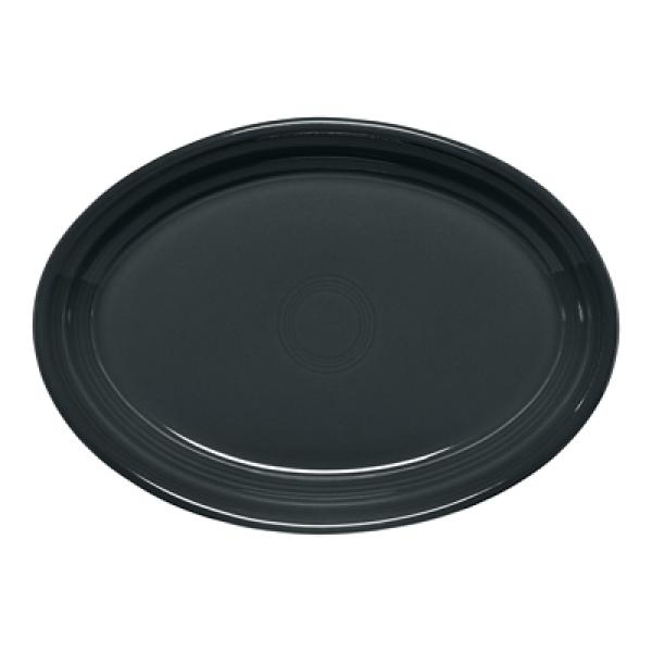 "Homer Laughlin 456339 Fiesta 9-5/8"" Oval Platter - Slate - 12/Case"