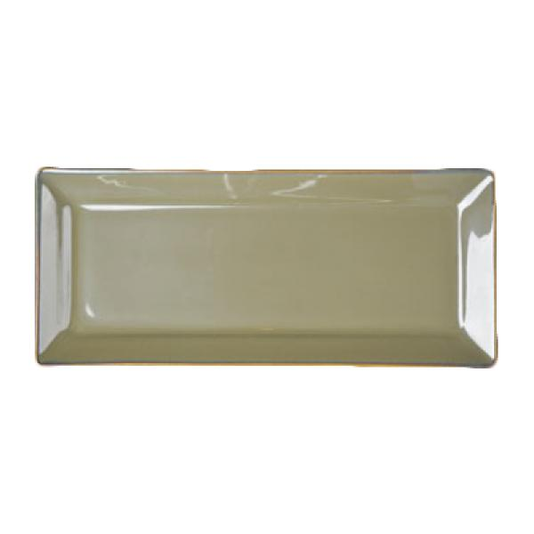 "Homer Laughlin 0789030 Pesto 5"" x 11-9/16"" Rectangular Rolled Edge Tray - 12/Case"