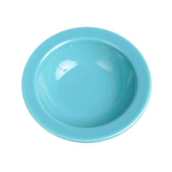 Homer Laughlin 165107 Colorations 3-1/4 oz. China Fruit Dish - Turquoise - 36/Case