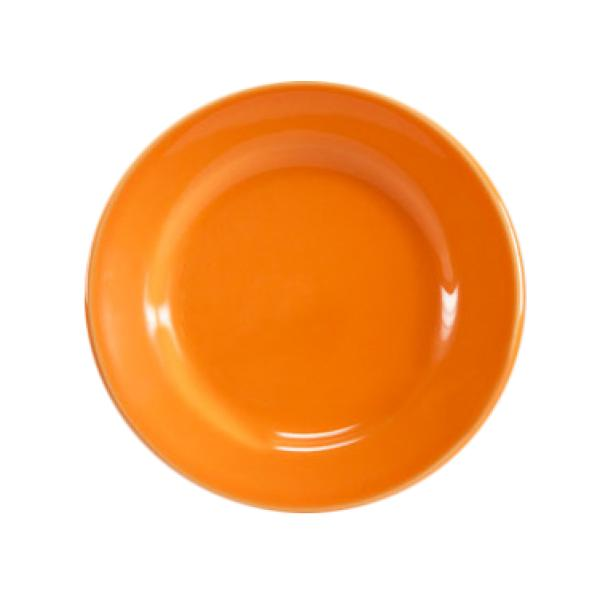 "Homer Laughlin  Colorations 9"" Narrow Rim China Plate - Tangerine - 24/Case"