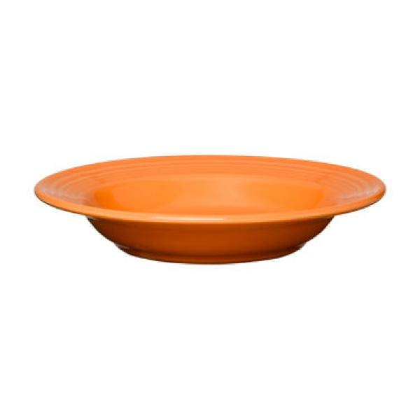 Homer Laughlin 451325 Fiesta 13-1/4 oz. Wide Rim China Soup Bowl - Tangerine - 12/Case