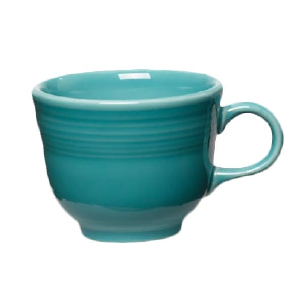 Homer Laughlin 452107 Fiesta 7-3/4 oz. China Cup - Turquoise - 12/Case