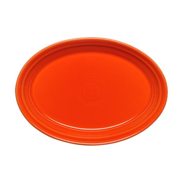 "Homer Laughlin 456338 Fiesta 9-5/8"" Oval Platter - Poppy - 12/Case"