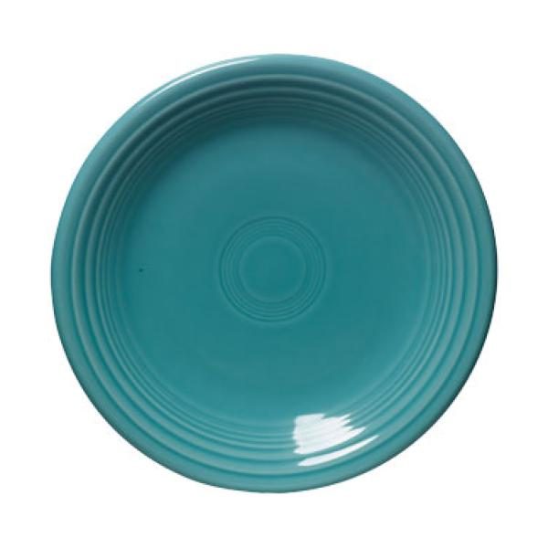"Homer Laughlin 464107 Fiesta 7-1/4"" Salad Plate - Turquoise - 12/Case"