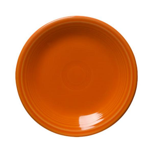 "Homer Laughlin 465325 Fiesta 9"" Lunch Plate - Tangerine - 12/Case"