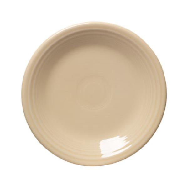 "Homer Laughlin 464330 Fiesta 7-1/4"" Salad Plate - Ivory - 12/Case"