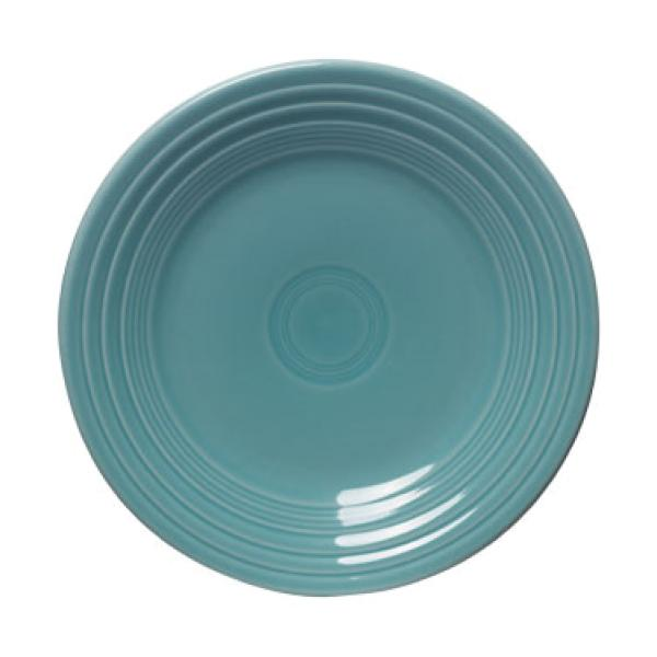 "Homer Laughlin 465107 Fiesta 9"" Lunch Plate - Turquoise - 12/Case"