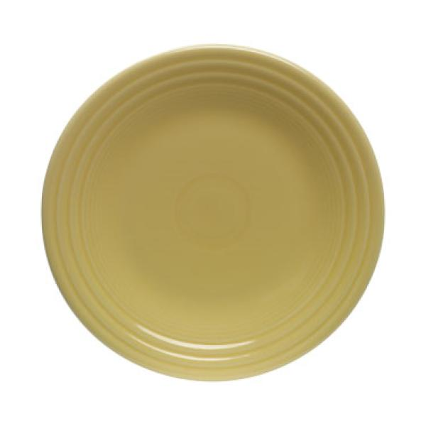 "Homer Laughlin 465320 Fiesta 9"" Lunch Plate - Sunflower - 12/Case"