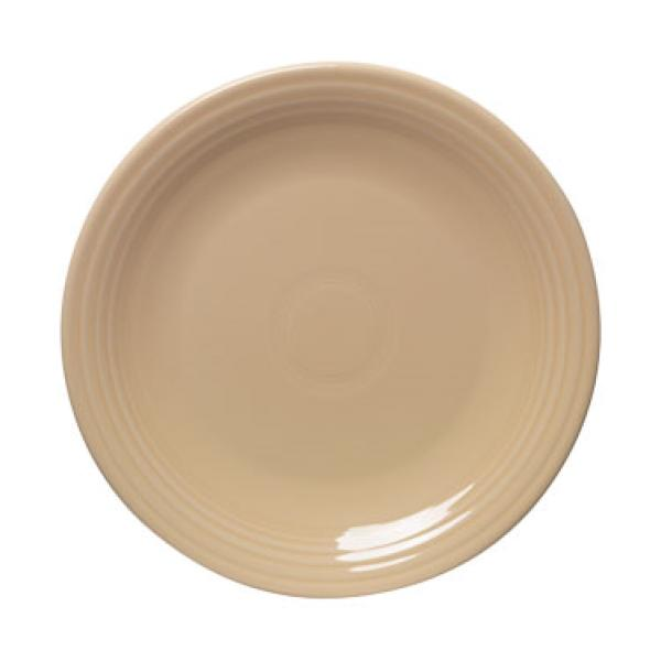 "Homer Laughlin 465330 Fiesta 9"" Lunch Plate - Ivory - 12/Case"