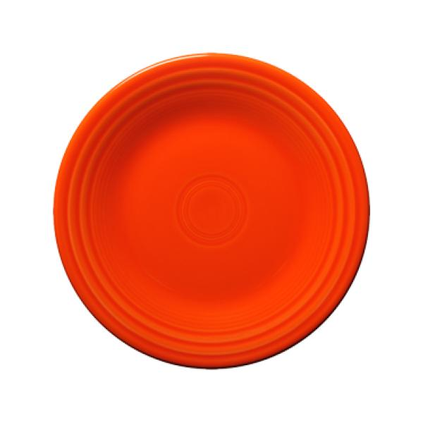 "Homer Laughlin 465338 Fiesta 9"" Lunch Plate - Poppy - 12/Case"