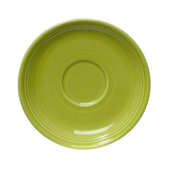 "Homer Laughlin 470332 Fiesta 5-7/8"" China Saucer - Lemongrass - 12/Case"