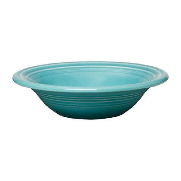 Homer Laughlin 472107 Fiesta 11 oz. China Cereal Bowl - Turquoise - 12/Case