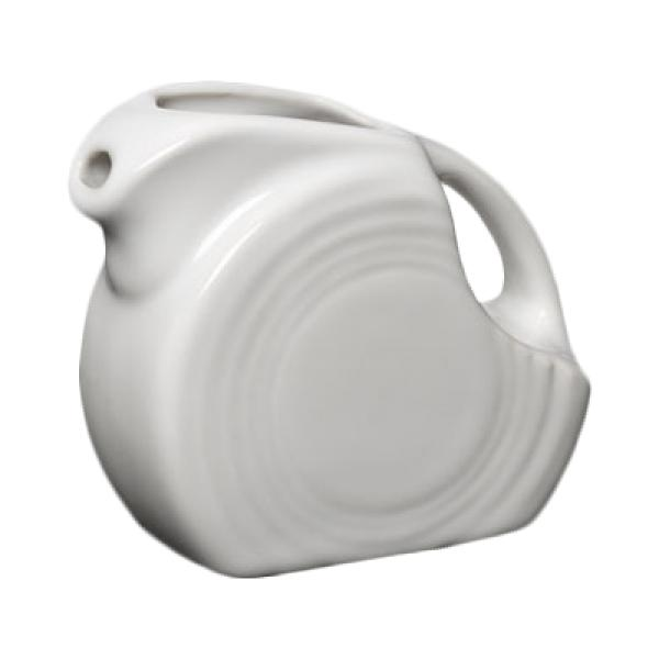 Homer Laughlin  Fiesta 4-3/4 oz. Mini Pitcher Creamer - White - 4/Case