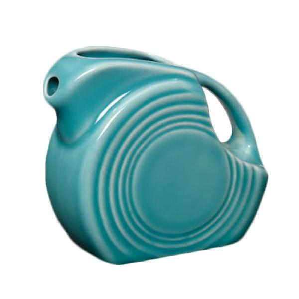 Homer Laughlin 475107 Fiesta 4-3/4 oz. Mini Pitcher Creamer - Turquoise - 4/Case