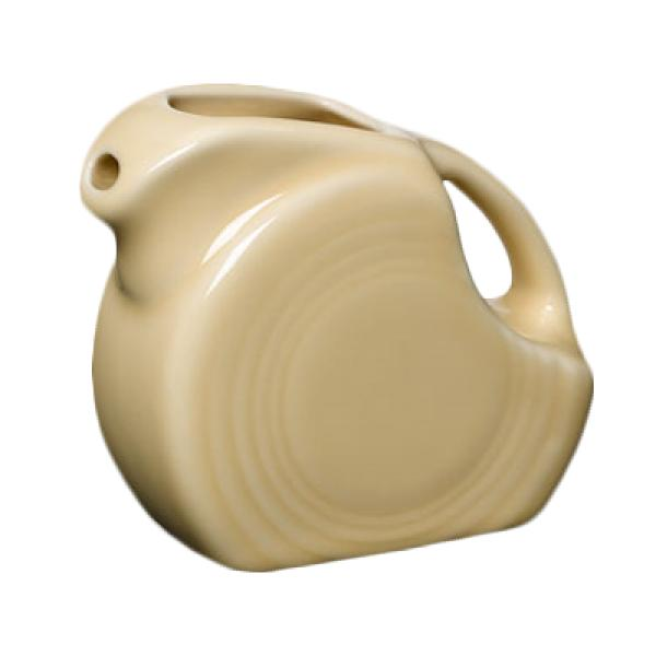 Homer Laughlin 475330 Fiesta 4-3/4 oz. Mini Pitcher Creamer - Ivory - 4/Case
