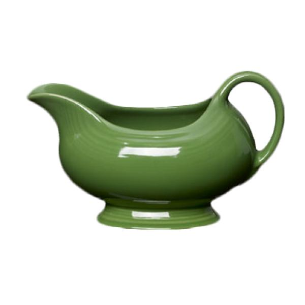 Homer Laughlin 486324 Fiesta 18-1/2 oz. Gravy Sauce Boat - Shamrock - 4/Case