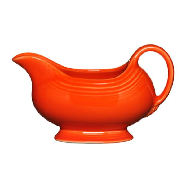 Homer Laughlin  Fiesta 18-1/2 oz. Gravy Sauce Boat - Poppy - 4/Case