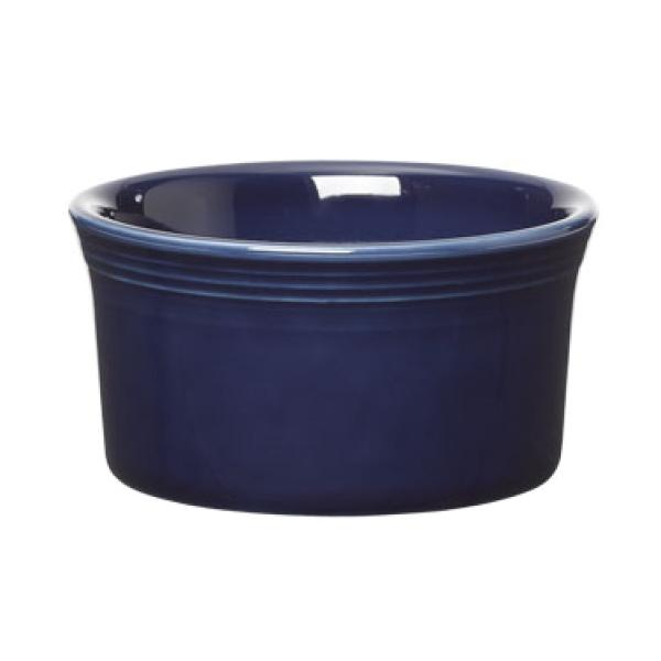 Homer Laughlin 568105 Fiesta 8 oz. China Ramekin - Cobalt Blue - 6/Case