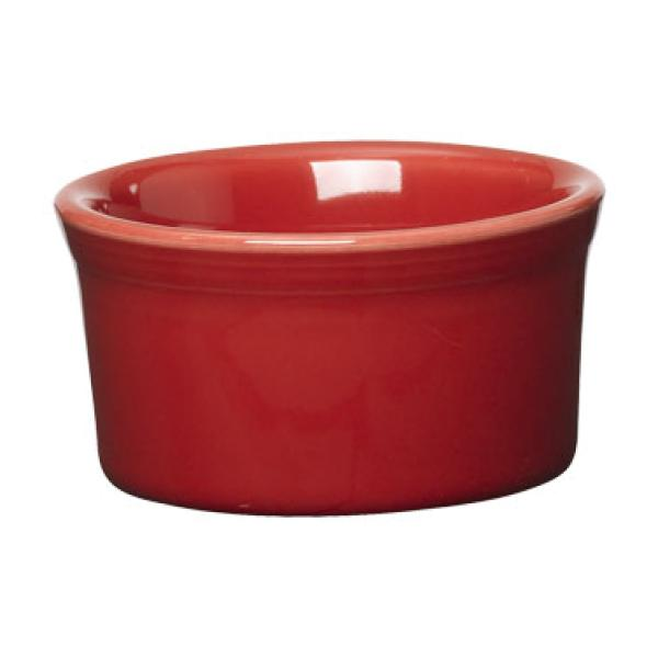 Homer Laughlin 568326 Fiesta 8 oz. China Ramekin - Scarlet - 6/Case