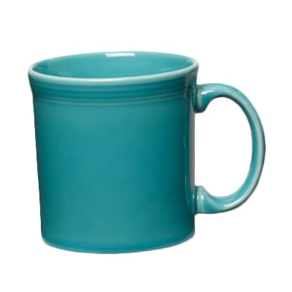 Homer Laughlin 570107 Fiesta 12 oz. China Java Mug - Turquoise - 12/Case