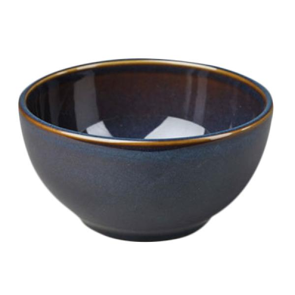 Homer Laughlin 3679026 Indigo 25 oz. Rolled Edge Tuscany Bowl - 12/Case