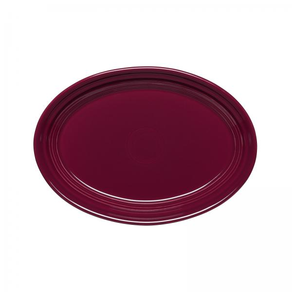 "Homer Laughlin  Fiesta 9-5/8"" Oval Platter - Claret - 12/Case"