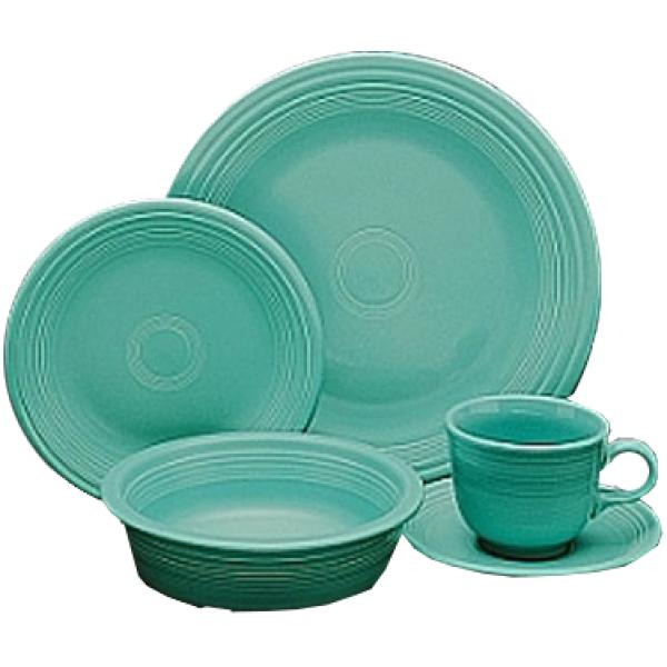 "Homer Laughlin  Colorations 9-3/8"" Narrow Rim China Plate - Turquoise - 24/Case"